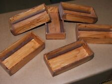 6 X  WOODEN BOXES FOR FISHING BOATS/ WORK BOATS-85mm X 40mm