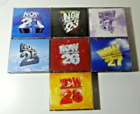 BUNDLE OF NOW THAT'S WHAT I CALL MUSIC FAT BOX  CDS 21 23 24 25 26 27 28