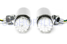 2x 24 White LED Running Light Turn Signal Fog Lamp Chrome Motorcycle for Harley