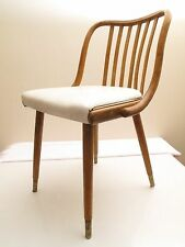 VTG MID CENTURY MOERN BENTWOOD THONET SIDE DESK DINING CHAIR CURVY CUTE :) 50'S