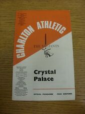 05/03/1968 Charlton Athletic v Crystal Palace  (marked on back). Any faults with