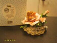 Cherished Teddies ~ Bear in Rose- Ourson Dans Une Rose MUSICAL -Blue Danube