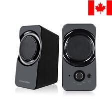 PrimeCables® 1 Pair Stereo Desktop Multimedia USB Power PC Computer Speaker Set