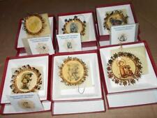 Lot of 6 Hummel Gold Christmas Ornaments in Original Boxes ~