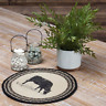 """Country Rustic Farmhouse COW Braided Jute 13"""" Tablemat Trivet"""