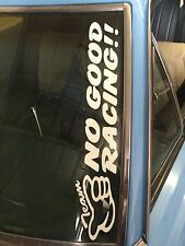 """TEAM NO GOOD RACING""WINDSCREEN PANEL BUMPER STICKER 550x100mm"
