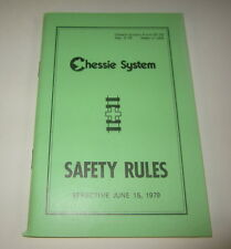 Old 1979 CHESSIE System RAILROAD Safety Rules BOOK - Chesapeake Ohio
