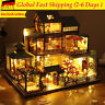 ✅3D Japanische LED Villa Puppenhaus DIY Puppenhaus Miniatur Möbel Kit Dollhouse