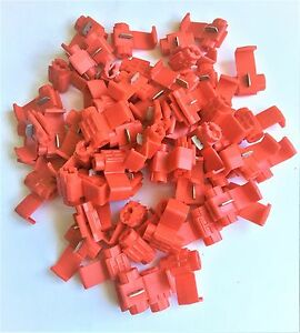 U.S.A. Red Solderless Wire Quick Splice Connector - 18-22 Gauge - 50 Pack