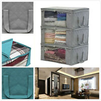 3x Underbed Clothes Storage Bags Ziped Organizer Wardrobe Cube Closet Boxes hot