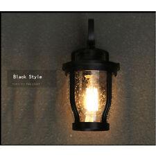 Vintage Industrial Wall Lamp Outdoor Waterproof Light Glass Lighting Decr 1523hc Black 1pc 220v E27 Edison Bulbs