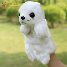 New style white sea lion plush toy hand puppet baby toy telling story gift 1p