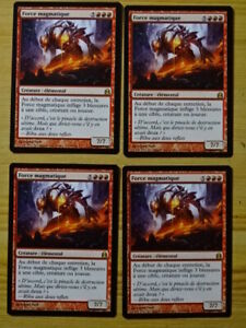 Carte Magic : Force Magmatique - Magmatic Force x4 - Rare - Commander - NM