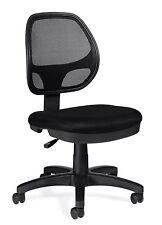 Lot of 10 Black OTG11642B Mesh Back Task Chairs - Armless