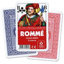 5 Romme Canasta Bridge Leinen Kartenspiele, Spiele und Spielkarten von Frobis