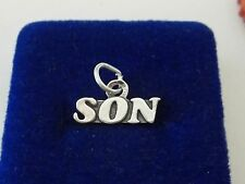 Sterling Silver 9x17mm says Son Charm!
