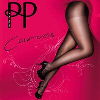 Pretty Polly Curves Tights 15 Denier Ladder Resist Tights Plus Size 3 Pairs BNIB