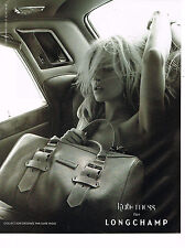 PUBLICITE ADVERTISING 054   2010  LONGCHAMP maroquinerie KATE MOSS