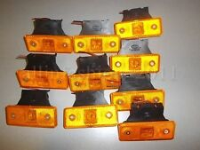 10 x AMBER Front Side Markers LED Lights Indicator Truck c/w rubber bracket 24V