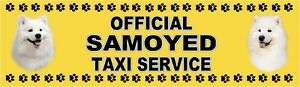 SAMOYED OFFICIAL TAXI SERVICE Dog Car Sticker  By Starprint