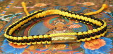 Buddha Sacred SAI SIN BRACELET blessed by Buddhist Monk. BLACK / LIGHT GOLD LUCK