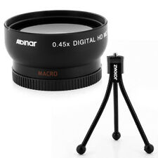 Wide Angle Lens + Mini Tripod for Panasonic Lumix DMC-G7 DMC-G7K FZ100 FZ40 FZ45