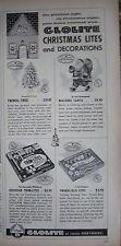 1956 Vintage Glolite Christmas Lites and Decorations Walking Santa Ad