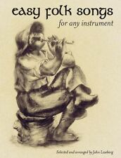 Easy Folk Songs For Any Instrument Learn to Play Piano Ukulele Guitar Music Book