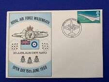 RAF 20 Jubilaum Der Nato Concorde Stamp FDC Royal Air Force Wildenrath 1969