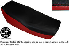 DARK RED AND BLACK VINYL CUSTOM FOR KAWASAKI Z 550 F 81-85 DUAL SEAT COVER ONLY