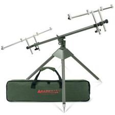 Rod Pod Fishing Rest for 4 Rods Buzzer Bars Adjustable Bank Sticks Carry Case