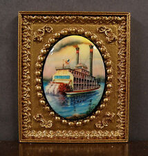 VINTAGE  CAMEO  PICTURE ~  Riverboat ~ Dollhouse Mini ~ 1:12 scale ~ Room Box