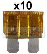 PACK OF 10 12V 24V VOLT 7.5A AMP BROWN STANDARD BLADE FUSES KIT CAR VAN MARINE