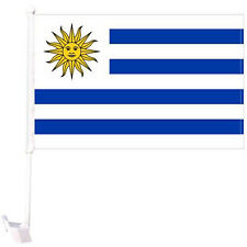"Uruguay World Cup 2018 double sided car flag FIFA banner 12"" x 18"" x 20"""