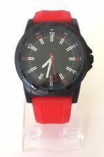 s.Oliver Herren Uhr rot schwarz Silikon sportlich SO-2369-PQ