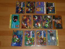 NINTENDO SUPER MARIO WORLD Vintage PRISM FOIL Trading Card lot of 13 [RARE]