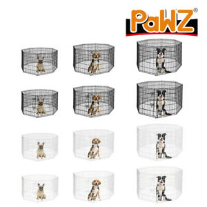 PaWz Dog Playpen Puppy Exercise Cages Pet Play Metal Fencing Panels Extra Large