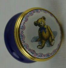Halcyon Days Smithsonian Original Teddy Bear Blue