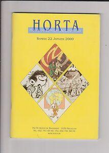 Catalogue Vente aux enchères HORTA bandes dessinées 22 janvier 2000