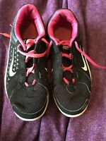 Youth Girls Size 4 Y Nike Running Black & Pink White Shoes Sneakers 4Y