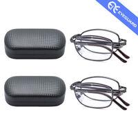 f8a60796f7e Reading Glasses Metal Folding Readers Unisex Classic Foldabe Eyewear Fold  Case
