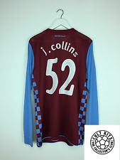 Aston Villa COLLINS #5 *PLAYER ISSUED* 10/11 L/S Home Football Shirt (XL) Jersey