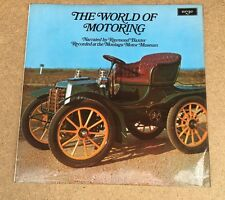 RAYMOND BAXTER The World Of Motoring 1962 UK Vinyl LP  EXCELLENT CONDITION