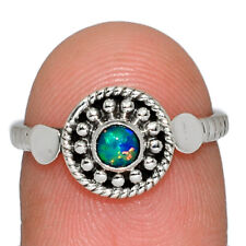 Fire Opal 925 Sterling Silver Jewelry Ring s.6 AR166941 214M