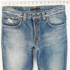 Para Hombre Nudie Slim Jim Ajustado Recto Blue Jeans W32 L34