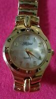 HALSTED WOMEN'S QUARTZ ANALOG GOLD TONE WATCH MOTHER OF PEARL DIAL