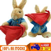 Peek-a-Boo Peter Rabbit Soft Plush Toy Stuffed Electric Music Doll Girl Kid Gift