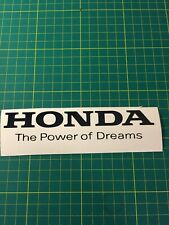 Honda The Power Of Dreams Vinyl Decals / Stickers