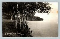 RPPC Cable WI, Lake View, Wisconsin Real Photo c1947 Postcard