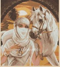 Arabian Princess and Horse Counted Cross Stitch COMPLETE KIT #3-395
